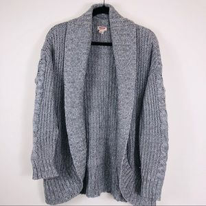Mossimo Supply Co. Grey Knit Open Cardigan/Small